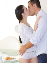 Erotic Brunette Making Love 01