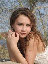 Perfect Brunette Loves Sand 00