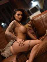 Gemma Massey Strips On The Couch 02