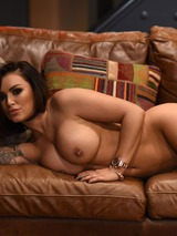 Gemma Massey Strips On The Couch 06