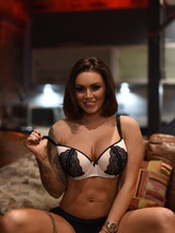 Gemma Massey Strips On The Couch 11