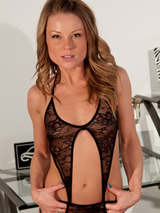 Madden In Black Lace Lingerie 10