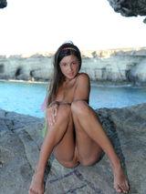 Brunette beauty on the beach 03