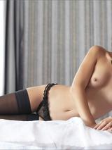 Mila Black Stockings 02