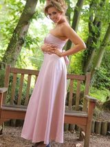 Leah F in a lilac evening dress 01