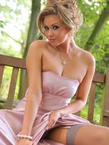 Leah F in a lilac evening dress 03