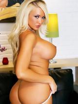 Busty blonde in lingerie 10