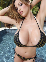 Hot lovely super sexy Jordan poses at the poolside 05