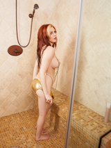 Redhead cybergirl in the shower 05