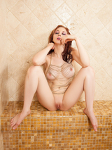 Redhead cybergirl in the shower 12