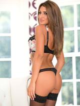 Jenny looks stunning in lingerie 01
