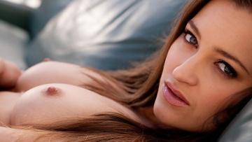 Alluring brunette Dani