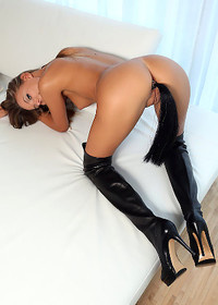 Sexy Clover High Leather Boots