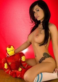 Violet get Frisky with Ironman