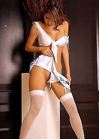 Kt So Mini Skirt And Stockings
