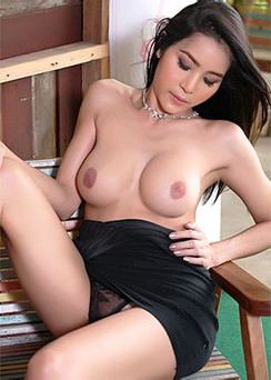 Sexy Asian Babe Strips Her Black Dress