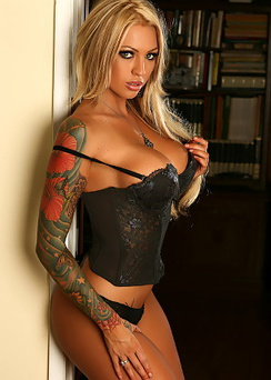 Megan Daniels sexy black lingerie