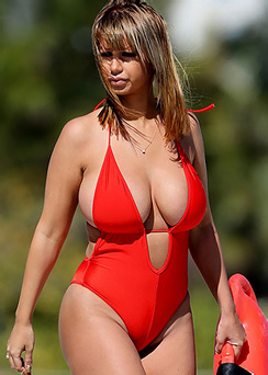 Jolena Forde In A Baywatch Swimsuit