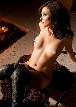 Bethanie Badertscher Gets Naked In Front Of The Fireplace