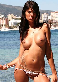Striptease at the beach