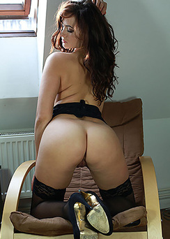 Tess L In Black Stockings