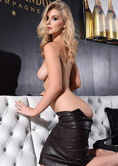 Jess Davies Takes Off Her Black Skirt