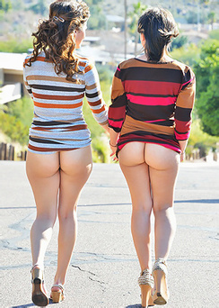 Athena &  Mindy In Public