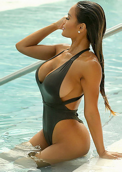 Daphne Joy In The Pool