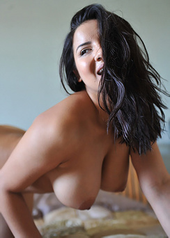 Lacey Banghard On Her Bed