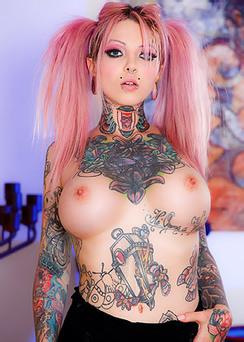 Busty Tattooed Bitch