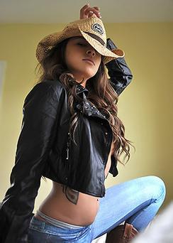 Sexy Brunette Nina James