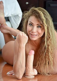 Rita Plays With Dildo