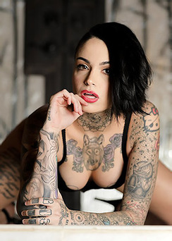 Tattooed Bitch Getting Naked