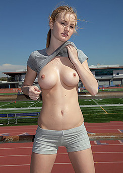 Sporty Girl Shows Her Big Boobs