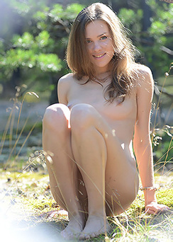 Sweet Teen In Outdoors