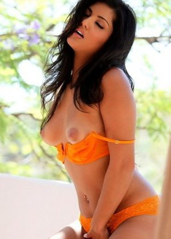 Sunny Leone orange bra and pants