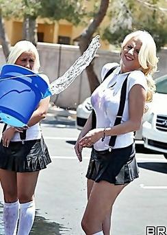 Busty Blond Wants Sucking
